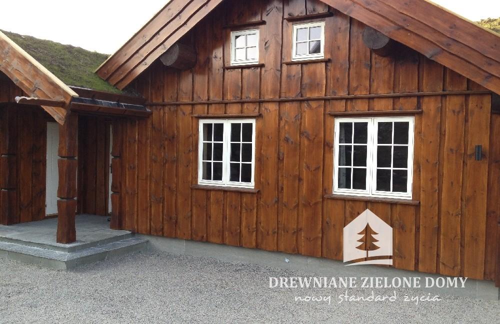 Drewniane Zielone Domy Skandynawskie  (11)