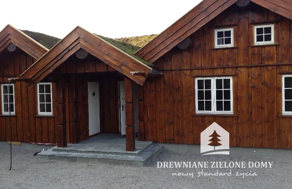 Drewniane Zielone Domy Skandynawskie  (12)