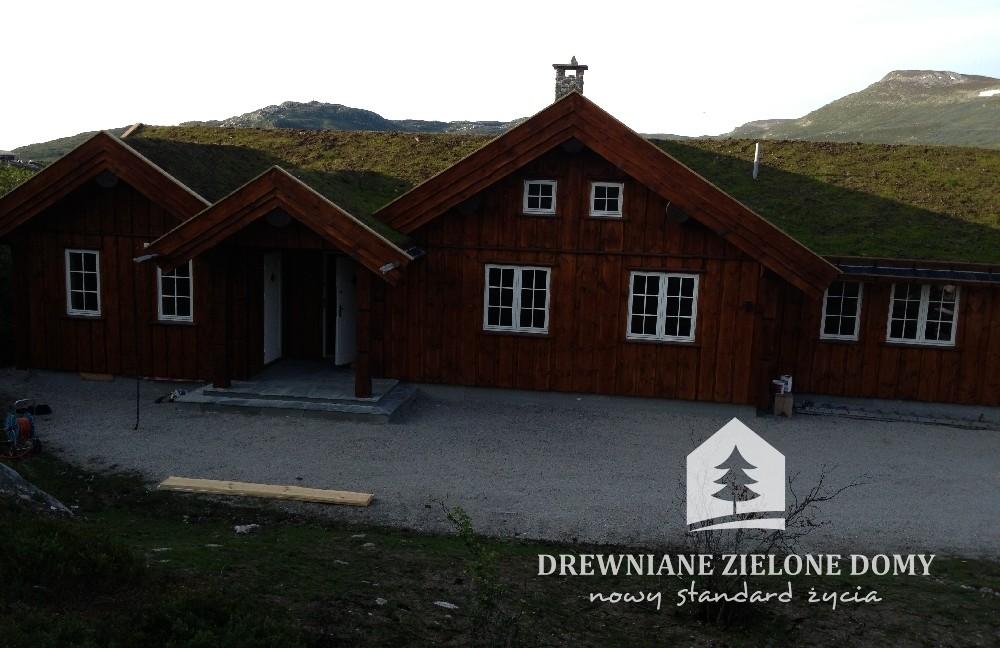 Drewniane Zielone Domy Skandynawskie  (13)