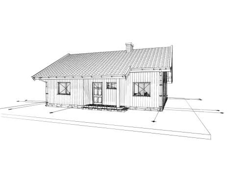 Drewniane Zielone Domy projekt DZD 10